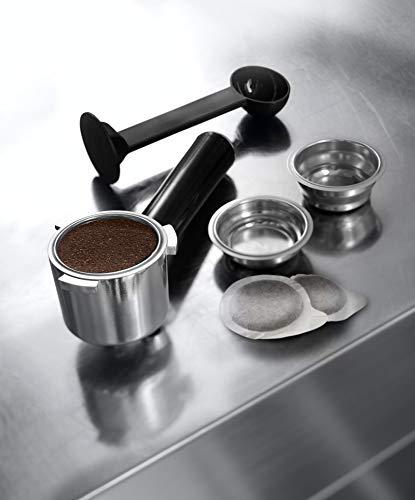 De'Longhi Dedica Style, Machine expresso pour préparer des boissons café et lactées, EC685M, Acier Chromé
