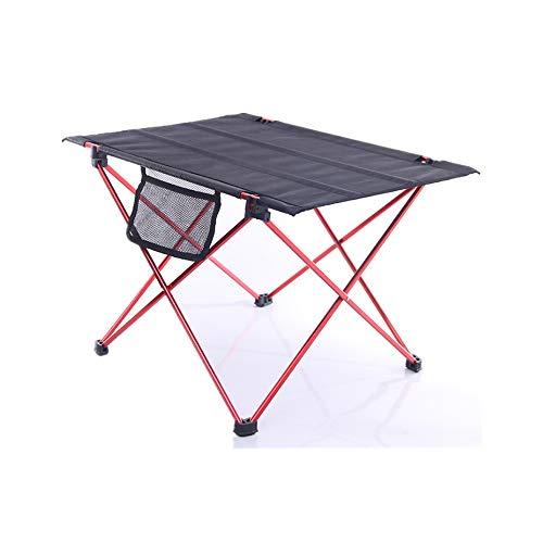 Yamyannie Mesa plegable plegable de mesa de picnic portátil adecuada para camping, playa, patio, barbacoa, fiesta al aire libre (color rojo, tamaño: 57 x 42 x 37 cm)