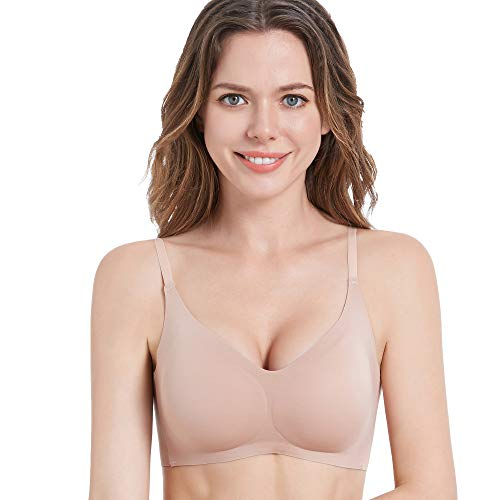 PRETTYWELL Bralettes for Women Padded, Adjustable Comfort Wireless Bras for Women Pack, Wirefree Tshirt Bra