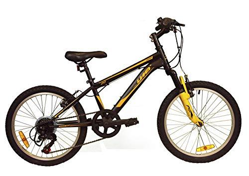 Umit 20 Zoll Fahrrad XR-200, ab 6 Jahren, mit Shimano-Schaltung und Federung vorne, Unisex Kinder, Schwarz/Gelb