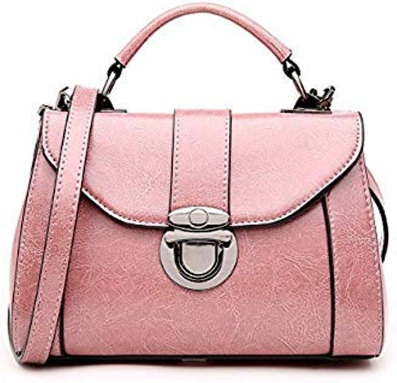 Bloomerang Hot Sale Calf Leather Buckle Lock Handbag New Women's Shoulder Bag Genuine Leather Female Small Square Ladies Cross Body Bag color Pink