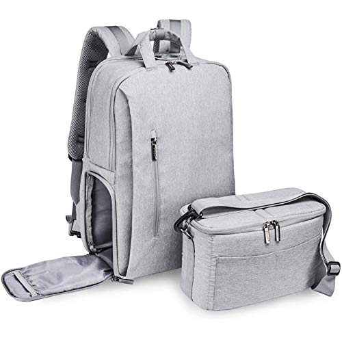 Angle-w stylish design,Simple travel, Camera Bag with Liner Case Raincoat Nylon Backpack Universal Magnanimous Capacity Bag for Camera Let us go further (Color : Gray, Size : A)