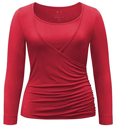 YOGA CURVES Damen YC-C37 Shirt, Cherry, 46/48
