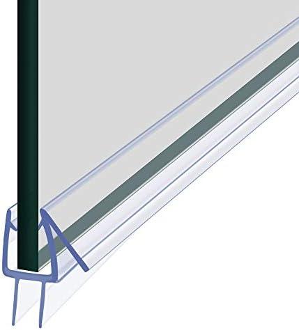 2 Pack Shower Door Bottom Seal Glass Shower Door Seal Strip Shower Door Seal Frameless Seal product image