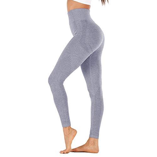 B/H Super Doux Pantalon de Yoga Extensible,Pantalon de Yoga Respirant sans Couture, Legging de Fitness Taille Haute-Couleur 7_M