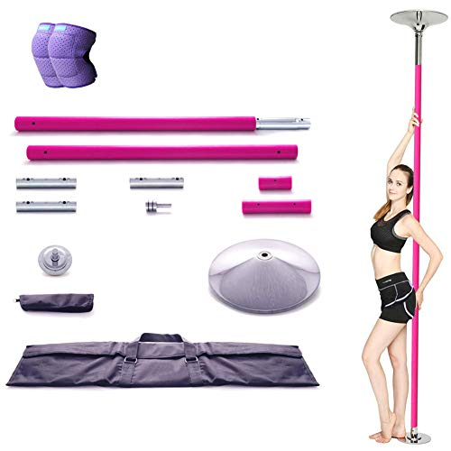 Professionelle Stripper Pole Spinning Static Dancing Pole mit Tasche, abnehmbares 45mm Dance Pole Kit für Exercise Club Party Pub Home,S