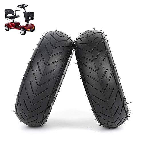 Neumáticos de amortiguación para patinetes eléctricos 3.00-4 Neumáticos interiores y exteriores inflables, antideslizantes y resistentes al desgaste, adecuados para patinetes eléctricos, patinetes par