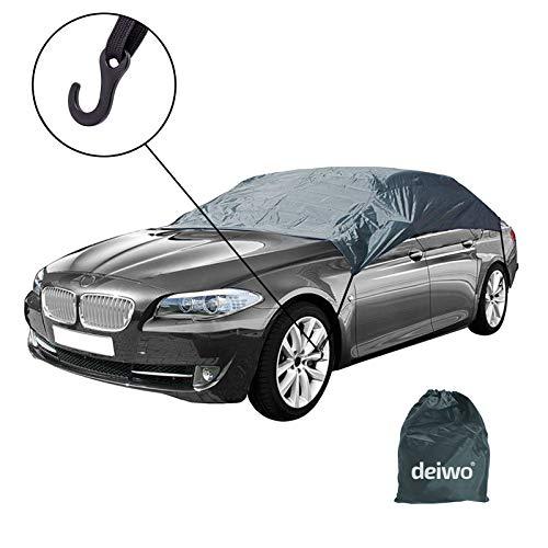 Halbgarage | Größe XS - XL | Winter geeignet | Nylon-, Polyestergewebe | Auto Abdeckung | Der ideale Schutz bei Kälte im Winter (XL)