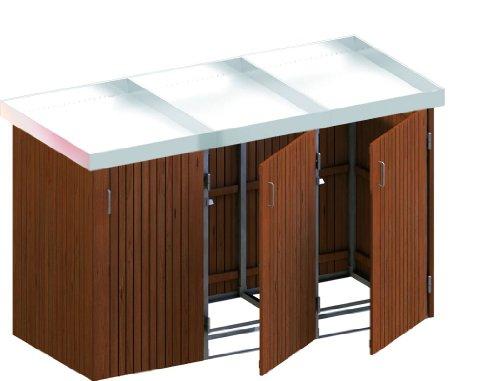 BINTO Mülltonnenbox Hartholz System 3P inkl. Pflanzschalen - 5115