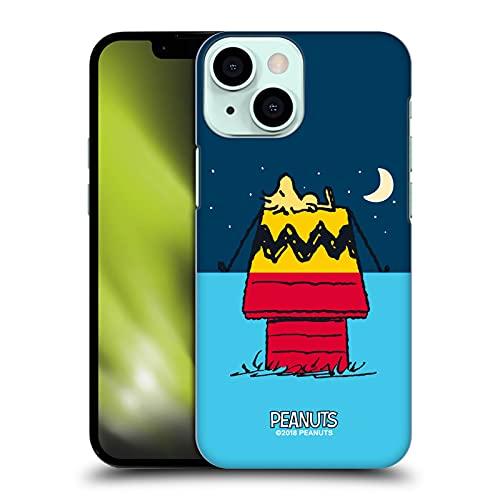 Head Case Designs Licenciado Oficialmente Peanuts Woodstock Alquiler de casa Mitades y Risas Carcasa rígida Compatible con Apple iPhone 13 Mini