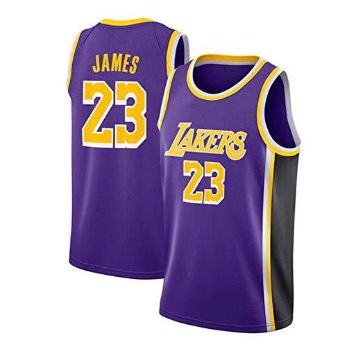 LinkLvoe Herren Trikot - NBA Lakers # 23Lebron James Mesh Basketball Swing Hochwertiges Trikot für den täglichen Gebrauch und das Basketballturnier