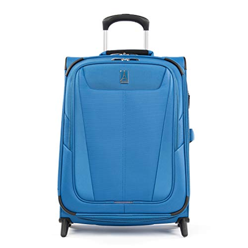 Travelpro Maxlite 5 - Softside Lightweight Expandable Upright Luggage, Azure Blue, Carry-On 20-Inch