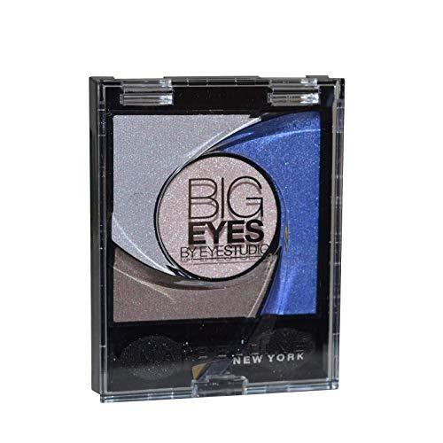 Maybelline New York Lidschatten Eyestudio Big Eyes Palette Blue 04 / Eyeshadow Set in Blau-Tönen mit Wet-Technologie und Perl-Pigmenten, 1 x 3,7 g