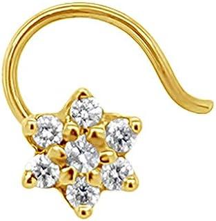 Gehna 22k (916) Yellow Gold and Diamond Nose Pin