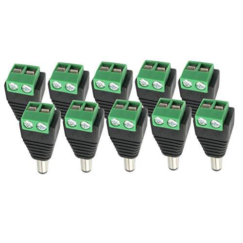 Conector Macho de Alimentación CC Y Conector de Cable Atornillado para Tira de LED de 12 V