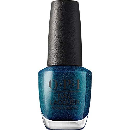 OPI Nail Lacquer, Nessie Plays Hide & Sea-k, Blue Nail Polish, Scotland Collection, 0.5 fl oz