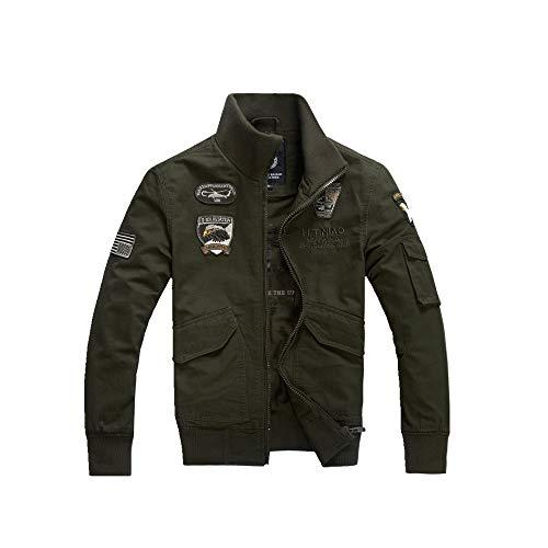 NOBRAND - Chaqueta para hombre (talla grande, uniforme militar)