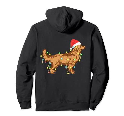 Luces de Navidad Golden Retriever perro amante divertido regalo Sudadera con Capucha
