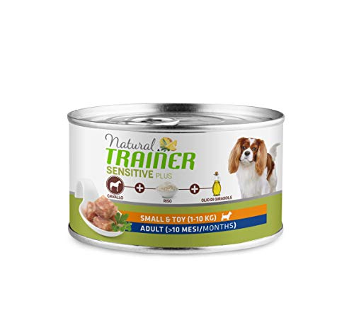 Natural Trainer Sensitive Plus - Pienso para Perros Mini-Toy Adult con Caballo y Arroz - 24 x 150g - 3,6kg 🔥