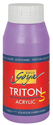 Kreul 17318 - Solo Goya Triton S Acrylfarbe flieder, 750 ml Flasche, schnell trocknend mit Glanzeffekt, Farbe auf Wasserbasis, in Studioqualität, vielseitig einsetzbar, gut deckend und ergiebig