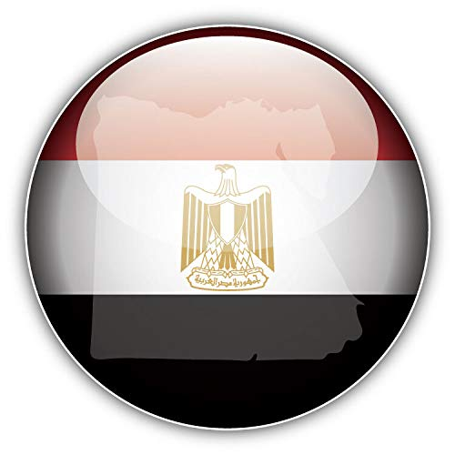 Tamengi Egypt Map Flag Glossy Label Car Bumper Sticker Decal 5 '' x 5 ''