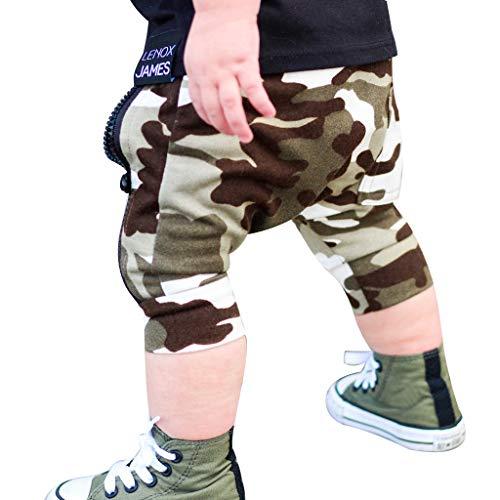 Zylione Boy Hose Kinder Baby Camouflage Reißverschluss Kurze Hosen Pluderhosen