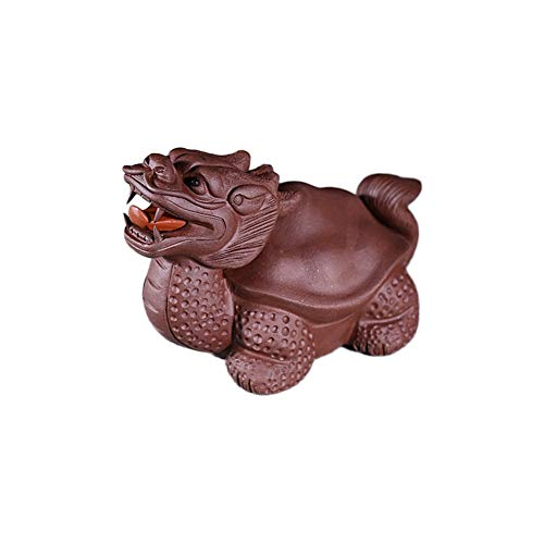 No-branded Teekanne Lila Sand Tee-Haustier-Skulptur Baxia Drachenschildkröte Crafts Tee-Behälter-Hauptdekoration Tee-Wiedergabe GMXCC (Color : Lila)