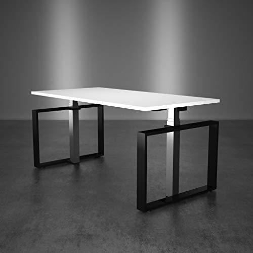 Inwerk Steh-Sitz Schreibtisch Masterlift 4 (Chrom/Schwarz, 2000x800)