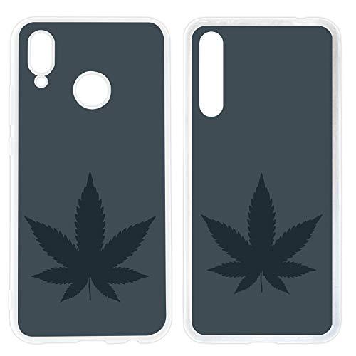 Handyhülle Weed für Huawei Silikon Hülle Gras Marihuana Cannabis Canabis Hanf Holz Holzhülle Bang, Hüllendesign:Design 4 | Silikon Klar, Kompatibel mit Handy:Huawei P20 Pro