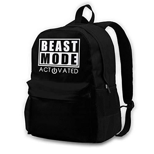 FGHJY Beast Mode Act Vated Mochila gráfica Bolsa de Viaje Escolar para...