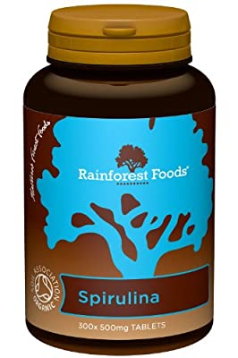 Rainforest Foods Organic Spirulina Tablets 500mg Pack of 300 by Rainforest Foods