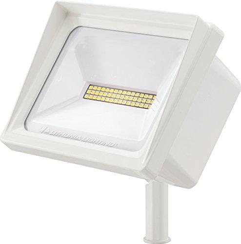 Lithonia Lighting QTE LED P2 40K 120 THK WH M6 LED Flood Light, 4000k, 40 watts, 4, 000 lumens, White