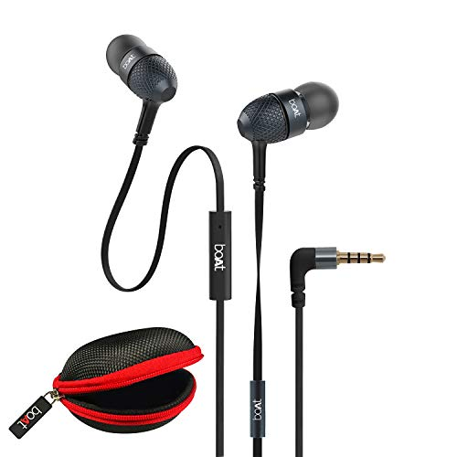 boAt BassHeads 225 Wired in Ear Earphone with Mic (Black)