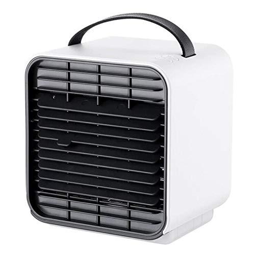 Enfriador de Aire Personal,Ventilador de Aire Acondicionado portátil,Mini Enfriador evaporativo USB, humidificador,Ventilador de Mesa de Escritorio para la Oficina de la Sala de Estar-Blanco