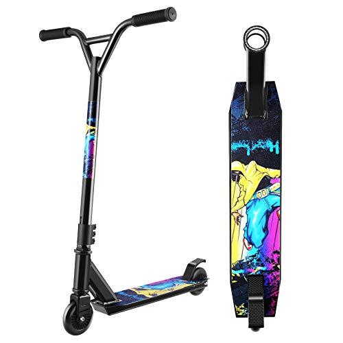 Hikole Trottinette Freestyle Pro Enfant, Rotation à 360 Degré,Résistante aux Acrobaties et Sauts,79cm de Hauteur,100kg de Charge