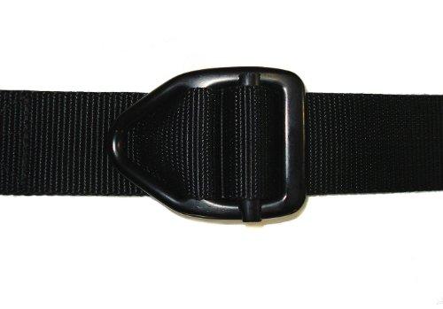 BISON 54 Adult's Last Chance Heavy Duty 38mm Gunmetal Belt Buckle Black Small