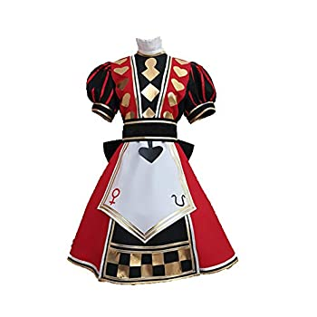 Alice  Madness Returns The royal poker outfit Cosplay Costume  L RED