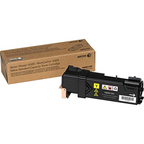Xerox Phaser 6500/ WorkCentre 6505 Yellow Standard Capacity Toner Cartridge (1,000 Pages) - 106R01593