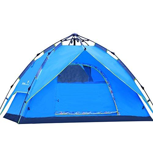Flytop Tente de randonnée 2 personnes Entièrement automatique étanche en alliage d'aluminium pour le camping randonnée Voyage d'escalade – Facile à installer