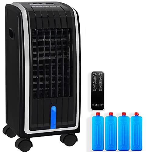 KESSER® 4in1 Mobile Klimaanlage   Fernbedienung   Klimagerät   Ventilator Klimaanlage   7 L Tank   Timer   3 Stufen   Ionisator Luftbefeuchter   Luftkühler   Schwarz