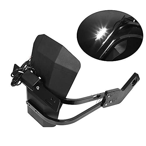 YGLIANHE Soporte de Placa Compatible con Yamaha MT 09 Tracer FJ-09 900GT XSR 900 Accesorios para Motocicletas de Guardabarros Traseros Protector LED