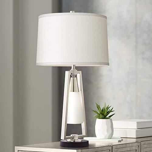 GLYYR Lámpara de Escritorio Lámpara de sobremesa Linterna de Cristal y Metal ISO con luz Nocturna