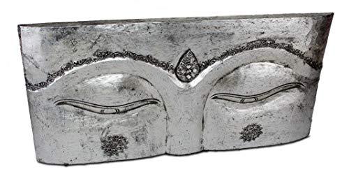 BilligerLuxus - Cuadro de pared (78,5 x 40,5 x 4 cm, madera), diseño de Buda, color plateado