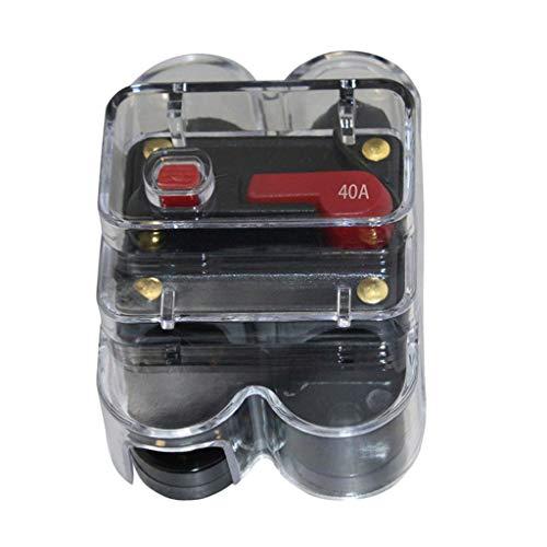 kesoto 40A 50A 60A 80A 100A 300A Autoschutz Audio Inline-Leistungsschalter Sicherung, Größe: 80x50x4 mm - 40A