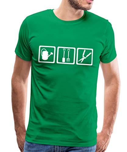 Gärtner Gießen Graben Schneiden Männer Premium T-Shirt, 5XL, Kelly Green