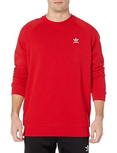 adidas Originals,mens,Essentials Crew,Scarlet/White,Small