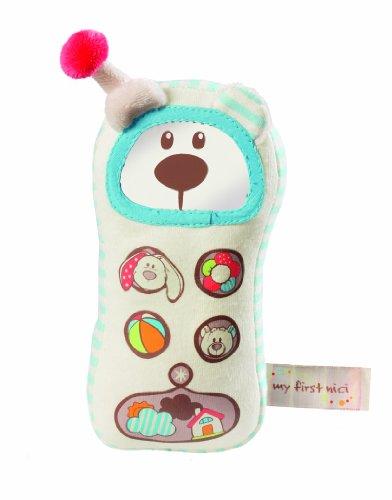 Nici My first Nici 33516 Taps - Teléfono móvil de peluche, diseño oso, 18 cm [importado de Alemania]