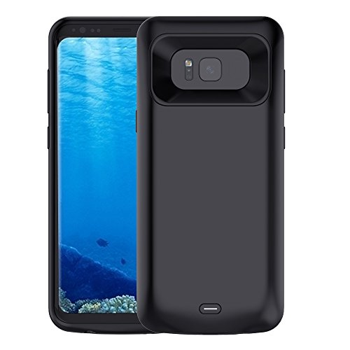 NOVPEAK Funda Bateria para Samsung S8 Plus, 5500mAh S8 Plus Power Bank Externa Recargable Cargador Portatil Protector Estuche de Carga para Galaxy S8 Plus