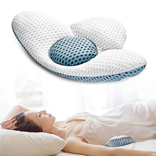 Beejirm Lendenkissen Orthopädisches Lendenwirbelsäule, Lendenkissen zum Schlafen, 3D Mesh Rücken-Kissen Lordosenstütze für Lschias Schwangerschaft Hüfte- oder Beinschmerzen