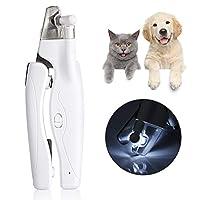 【バレンタインデーカーニバル】耐久性のある犬の爪切り、光で快適な安全なLED犬の爪切り、ペット用の犬の爪切り